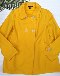 GAP Bright Yellow Khaki Coat